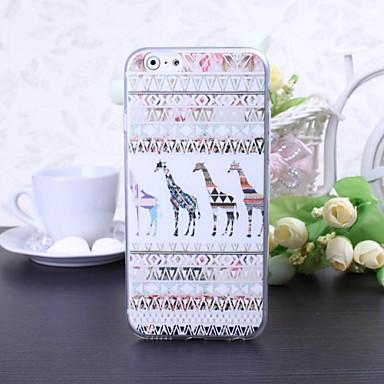 μοτίβο καμηλοπάρδαλη καρτούν TPU μαλακή θήκη για το iPhone 6 / 6δ