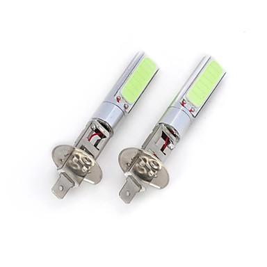 H1 Araba Soğuk Beyaz 20W COB 6000-6500 Sis Farı Yan Lambalar Çift Taraflı lamba Spot Işığı