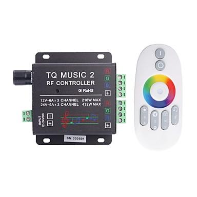 6a 3 canale de muzica CT rf LED-uri RGB placa audio cu multifuncțional de la distanță pentru LED-uri RGB lampă benzi (dc 12-24V)