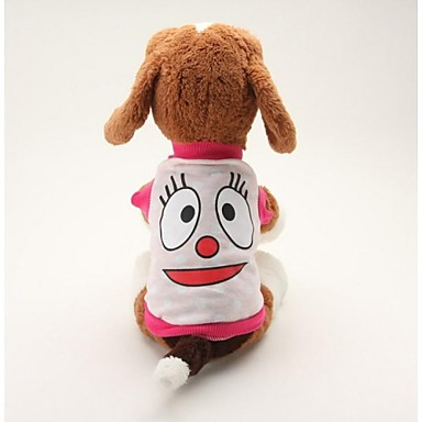 Dog Shirt / T-Shirt Dog Clothes Cartoon Blue Pink Cotton Costume For Summer Men's Women's Casual / Daily