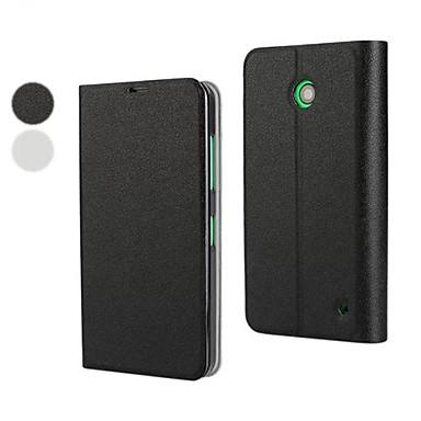 Capinha Para Nokia Lumia 630 Nokia Capinha Nokia Com Suporte Flip Capa Proteção Completa Côr Sólida Rígida PU Leather para
