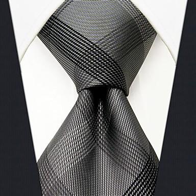 economico Abbigliamento uomo-Per uomo Basic, Da ufficio / Essenziale Cravatta Monocolore / A quadri