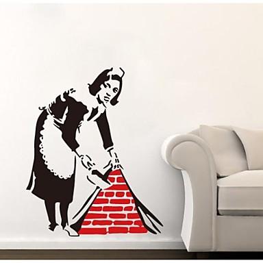 Modă Abstract Fantezie Perete Postituri Autocolante perete plane Autocolante de Perete Decorative Material Lavabil DetașabilPagina de