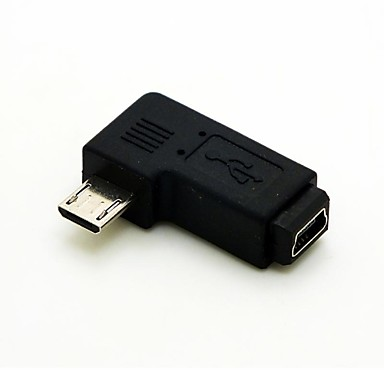 mini USB dişi uzatma adaptörü conventer sola açılı 90 derece mikro usb erkek