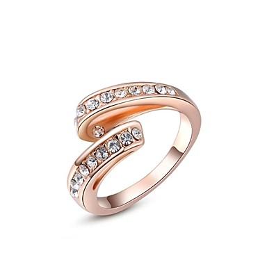Pentru femei Band Ring Argintiu Auriu Cristal Placat Auriu Nuntă Petrecere Zilnic Casual Costum de bijuterii