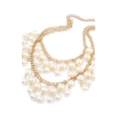 Femei din aliaj de dublu New colier de perle