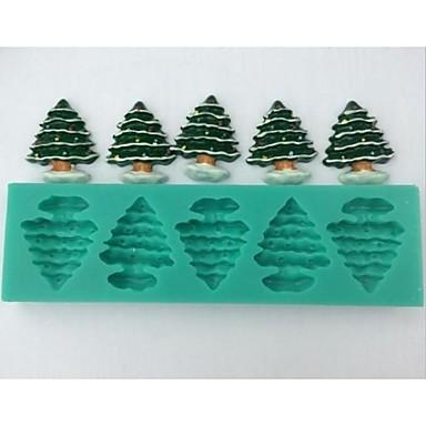 χριστουγεννιάτικο δέντρο φοντάν εργαλεία διακόσμηση κέικ σοκολάτας κέικ μούχλα σιλικόνης, l14.5cm * w4.3cm * h1cm