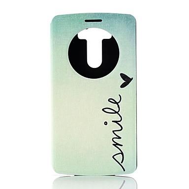Pentru Carcasă LG Carcase Huse Cu Stand cu Fereastră Întoarce Corp Plin Maska Cuvânt / expresie Greu PU Piele pentru LG LG G3