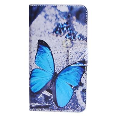 Maska Pentru HTC Carcasă HTC Titluar Card Portofel Cu Stand Întoarce Corp Plin Fluture Greu PU Piele pentru