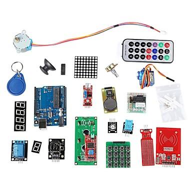rfid kit de aprendizagem do sistema w / uno r3 passo RFID do motor módulo RFID cartão ic ic rfid chaveiro base para arduino