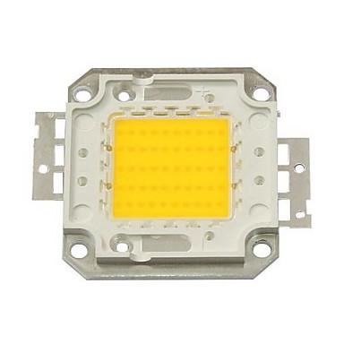 Zdm diy 50w 4500-5500lm sıcak beyaz 3000-3500k ışık entegre led modülü (dc33-35v 1.5a) projeksiyon ışık altın tel bakır braket kaynak için sokak lambası