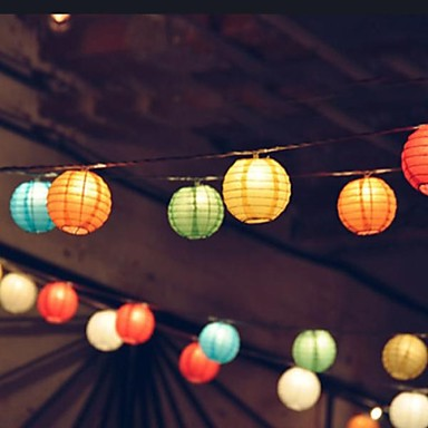 solar 10led mehrfarbenlaterne string light party gartenlampe
