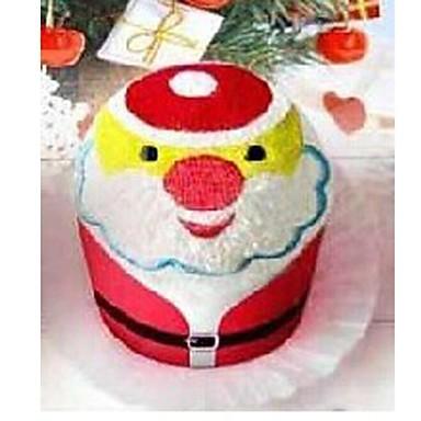 verjaardagscadeau kerstman vorm fiber creatieve handdoek (willekeurige kleur)
