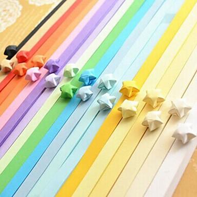 2 x 90 stuks fluorescerende kleur lucky star origami materialen (willekeurige kleur)