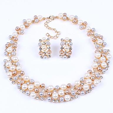 Pentru femei Seturi de bijuterii Perle Imitație de Perle Ștras Aliaj Petrecere European Σκουλαρίκια Coliere Costum de bijuterii