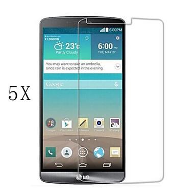 [5-pack] επαγγελματίας υψηλής διαφάνειας LCD κρυστάλλινα σαφές προστάτης οθόνης με πανάκι καθαρισμού για το LG G3