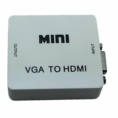 Mini-Audio-VGA-Konverter-Box zu 1080p-Adapter mit USB-Audio-Leistung für pc d hdmi
