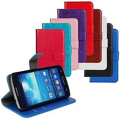 Para Samsung Galaxy Capinhas Porta-Cartão / Com Suporte / Flip Capinha Corpo Inteiro Capinha Cor Única Couro PU Samsung Express 2