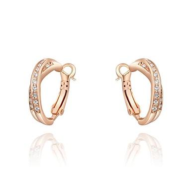 Ring oorbellen Kostuum juwelen Kristal Verguld Sieraden Voor Bruiloft Feest Dagelijks Causaal