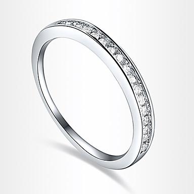 Mulheres Anel de declaração Luxo Amor Coração Europeu Zircão Zircônia Cubica Prata Chapeada Imitações de Diamante Jóias de fantasia Festa