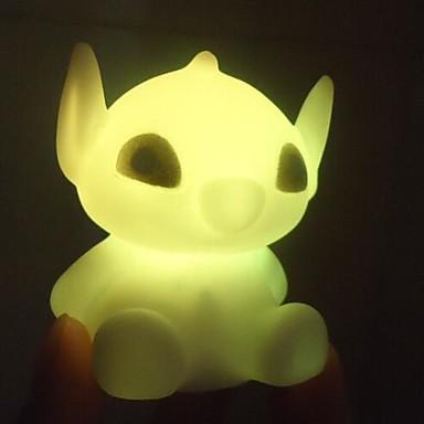 LED νύχτα φως Αδιάβροχη Μπαταρία PVC 1 Φως Συμπεριλαμβάνονται μπαταρίες 7.0*7.0*6.0cm