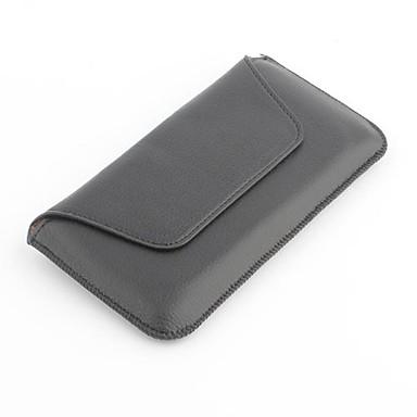 черный чехол личи зерна пу кожаный сумка с зажимом для ремня для iPhone 6 / 6с