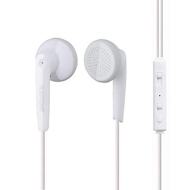 Plextone EARBUD Com Fio Fones Plástico Celular Fone de ouvido Com controle de volume Com Microfone Fone de ouvido