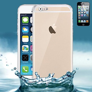 Pouzdro Uyumluluk Apple iPhone 6 Plus / iPhone 6 Ultra İnce / Şeffaf Arka Kapak Solid Yumuşak Silikon için iPhone 6s Plus / iPhone 6s / iPhone 6 Plus