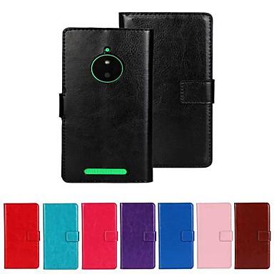 케이스 제품 Nokia 노키아 루미아 830 노키아 케이스 카드 홀더 지갑 스탠드 전체 바디 케이스 한 색상 하드 PU 가죽 용