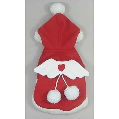 Hund Mäntel / Kapuzenshirts Hundekleidung Rot Fasergemisch Kostüm Für Haustiere Herrn / Damen Weihnachten / Neujahr