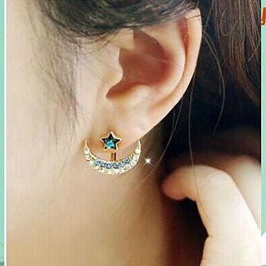 Σκουλαρίκι Star Shape Κουμπωτά Σκουλαρίκια Κοσμήματα Γάμου / Πάρτι / Καθημερινά / Causal Στρας / Επιχρυσωμένο ΓυναικείαΜπλε / Γκρίζο /