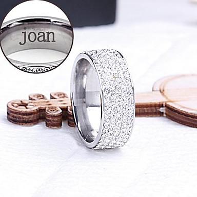 anel de presente personalizado de aço inoxidável jóias gravado