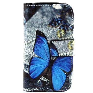 Capinha Para Samsung Galaxy Samsung Galaxy Capinhas Porta-Cartão Carteira Com Suporte Flip Estampada Borboleta para