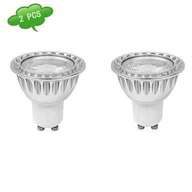 630 lm GU10 Lâmpadas de Foco de LED MR16 1 leds COB Regulável Branco Frio AC 220-240V