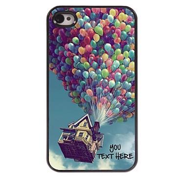 gepersonaliseerde telefoon case - ballon ontwerp metalen behuizing voor de iPhone 4 / 4s