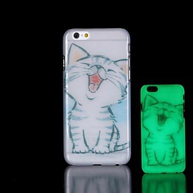 cat padrão brilham no escuro caso difícil para o iPhone 6 Plus