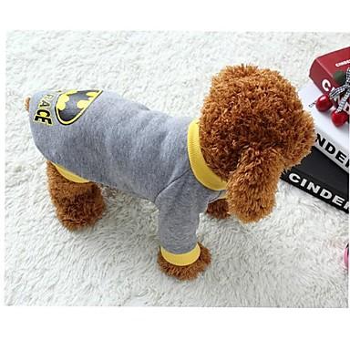 Γάτα Σκύλος Στολές Φανέλα Ρούχα για σκύλους Στολές Ηρώων Κινούμενα σχέδια Γκρίζο Στολές Για κατοικίδια