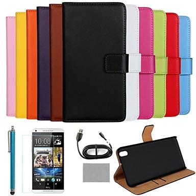 Pentru Carcasă HTC Portofel / Titluar Card / Cu Stand / Întoarce Maska Corp Plin Maska Culoare solida Greu PU piele HTC