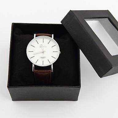 Relógio do vestido relógio dos homens da moda com design simples presente personalizado do dia dos pais
