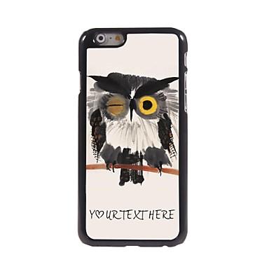 personalizado caso de telefone - piscar caso projeto da coruja de metal para iphone 6 mais
