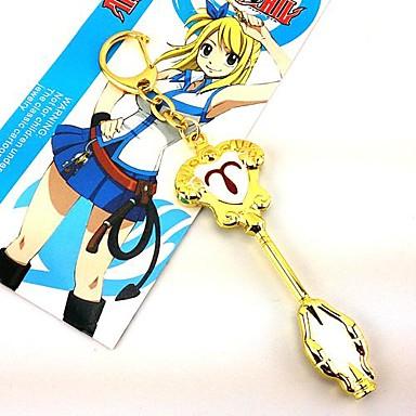 Jóias Inspirado por Fairy Tail Fantasias Anime Acessórios de Cosplay Colares Dourado Liga Feminino
