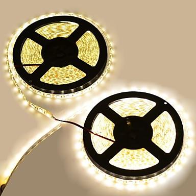 wasserdichtes 144W 600-5050 SMD LED 3300K 8400-Lumen warmweißen Lichtdekoration Lichtbänder (10m Länge / DC-12)