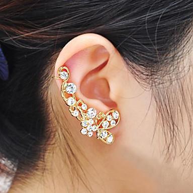 Χειροπέδες Ear Στρας Κράμα Ασημί Χρυσαφί Κοσμήματα Πάρτι Καθημερινά