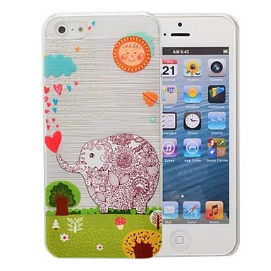 Capinha Para Capinha iPhone 5 Estampada Capa Traseira Elefante Rígida PC para iPhone SE/5s iPhone 5