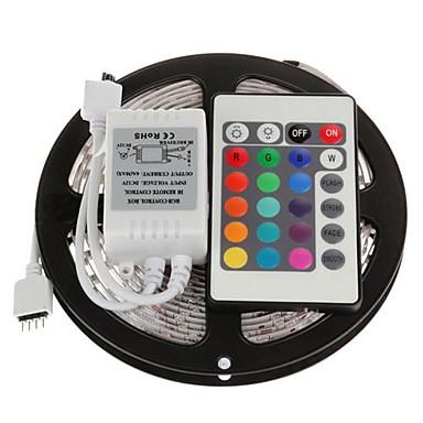 ZDM® 5m Işık Setleri 300 LED'ler SMD 2835 1 24Keys Uzaktan Kumanda RGB Kesilebilir / Bağlanabilir / Kendinden Yapışkanlı 12 V 1set