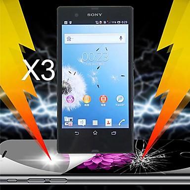 final șoc absorbție ecran protector pentru Sony Xperia Z l36h (3 buc)