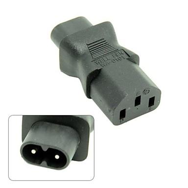 iec 320 c13 a C8 IEC, IEC fêmea 3 pinos para 2 pinos adaptador de alimentação do sexo masculino, do sexo masculino C8 e C13