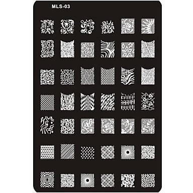 lieblich Nagel Kunst Maniküre Pediküre Metal Abstrakt / Klassisch / Zeichentrick Alltag / Stempelplatte