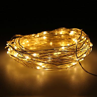 10m 100 LED'ler Sıcak Beyaz Su Geçirmez 12 V