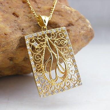 Pentru femei Coliere cu Pandativ - Zirconiu, Placat Auriu Modă Auriu Coliere Pentru Nuntă, Petrecere, Zilnic